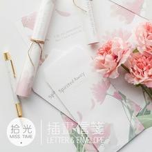 9 шт./компл. 3 конверта+ 6 листов Письмо бумага Новинка спиральная серия конверт подарок канцелярские принадлежности