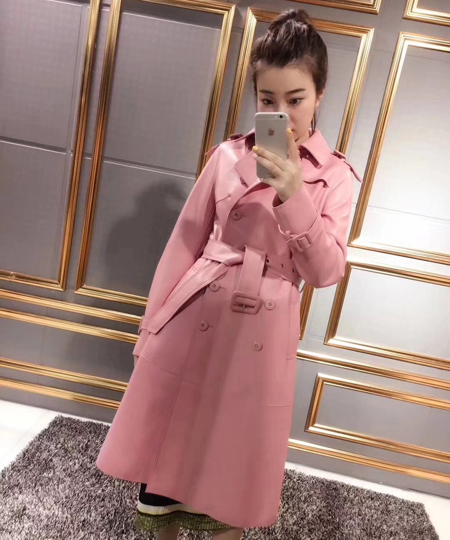 Véritable veste en cuir femmes 2018 automne nouvelle mode Angleterre style À Manches Longues Slim Manteau Dames réel en peau de mouton manteaux femme