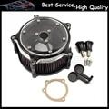 Contraste Corte do Filtro de ar Para Harley Sportster XL883 XL1200 91-15 Ferro 883 10-14