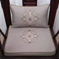 Thicken Chinese Embroidered Linen Cushion Seat Chair Sofa Seat Cushion Christmas Decorative Arm chair Lumbar Pillow Seat Pad