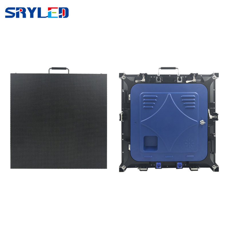 Utra Slim Rental Led Display Die Casting Aluminium Cabinet 576mm x 576mm P3 RGB Led Panel For Events / Wedding / Stage