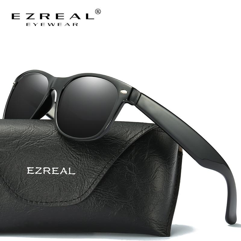 EZREAL Top Brand Designer Polarized Hombres Mujeres Gafas de sol Vintage Fashion Driver Gafas de sol gafas oculos de 214O