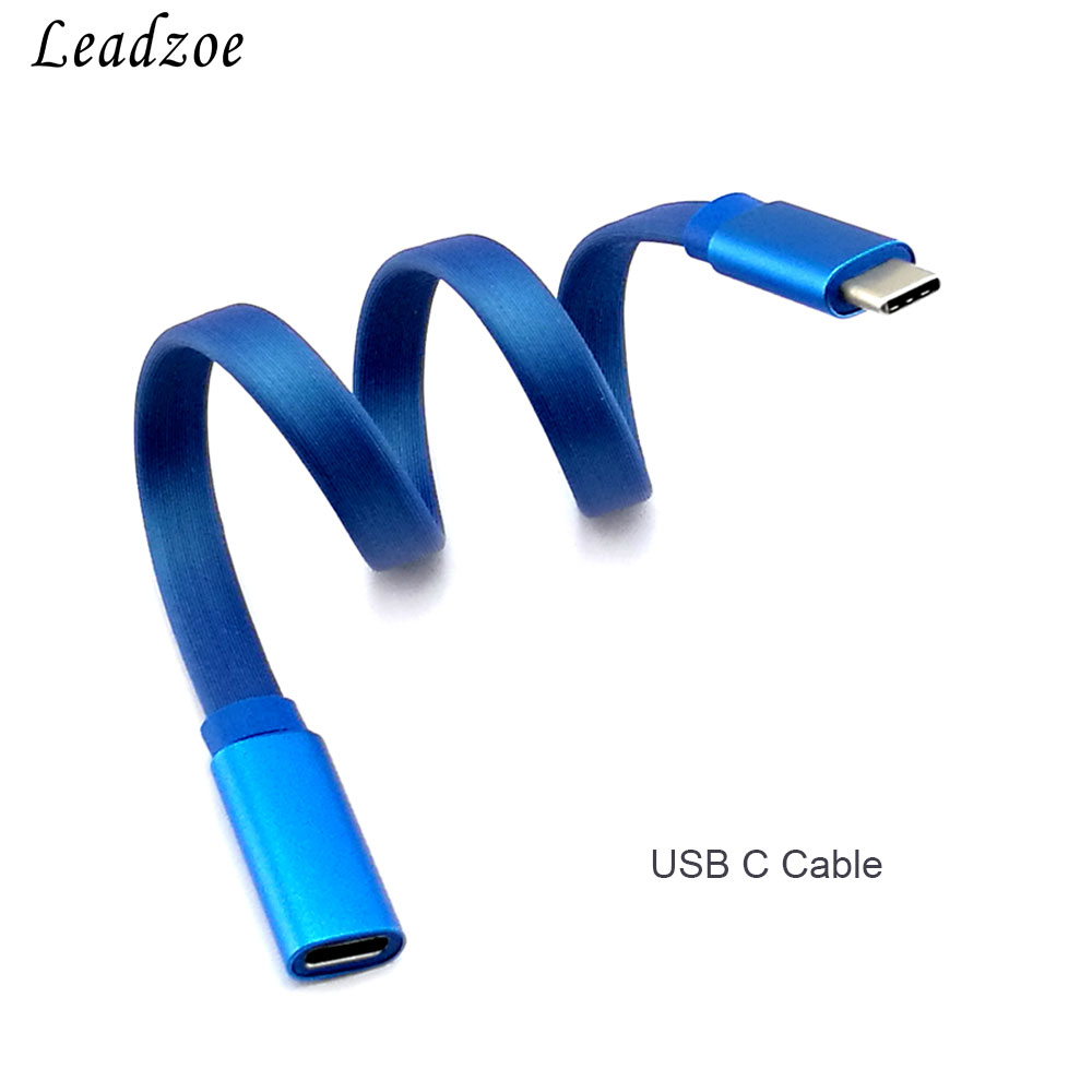 USB-C 3.1 Male to Female Extension Cable, Leadzoe Gen 2 (10Gbps) USB Type-C to Type-C Fast Charging and Data Sync Cable-Blue usb 2 0 male to usb female extension cable blue 3m