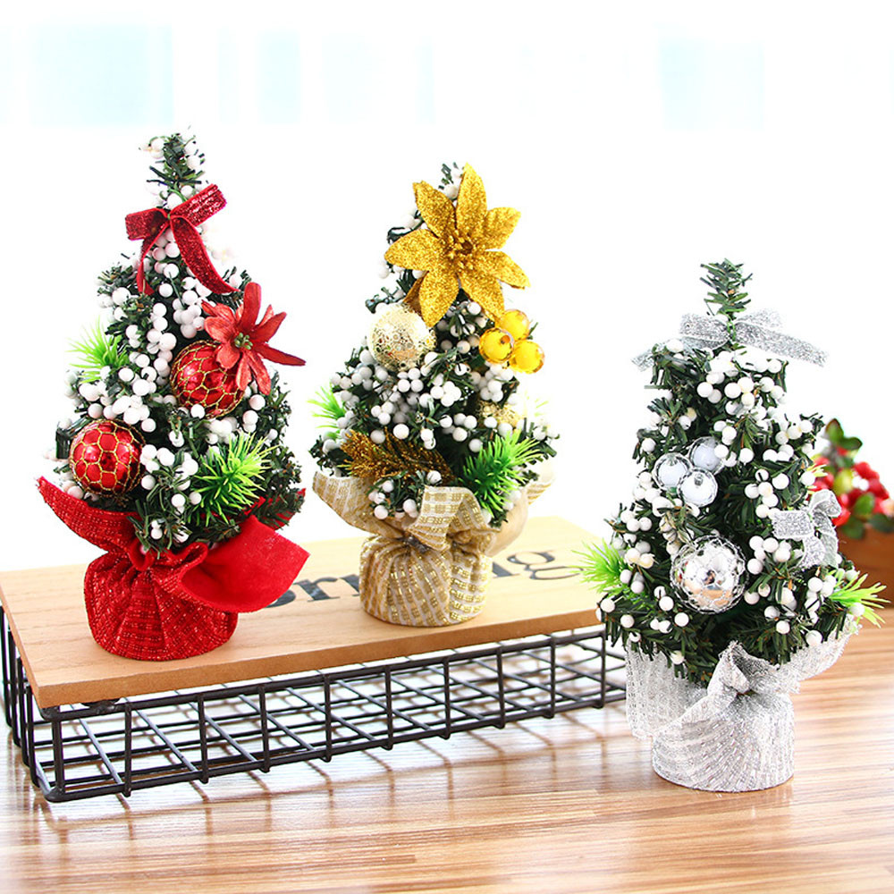 Mini Christmas Tree For Home Bedroom Office Desk Decoration
