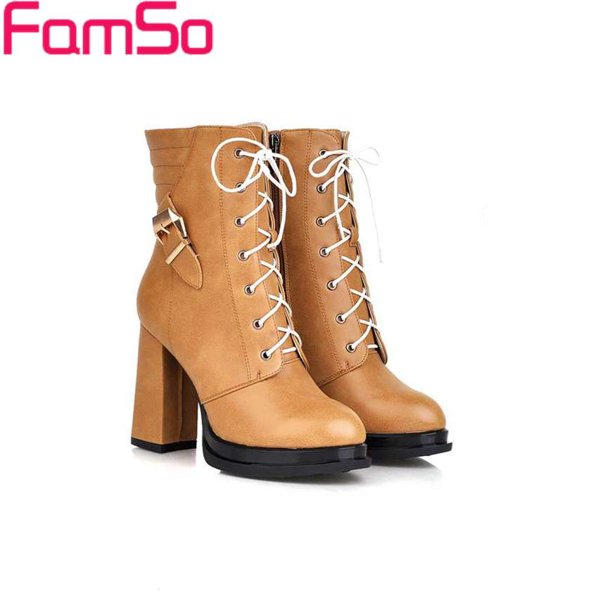Free shipping 2016 New Sexy font b Women b font Boots Autumn Platforms Pumps High Thick
