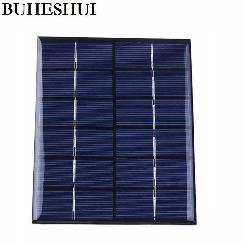 BUHESHUI 2W 6V 0.33A Mini Solar Panels Solar Power 3.6V Battery Charge Solar Cell Diy Soar Charger 136*110MM 3pcsFree Shipping