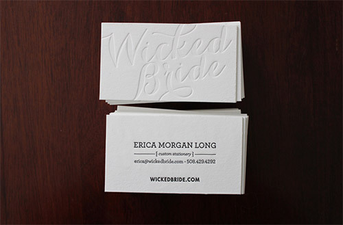 High Quality Custom Business Cards 2 Side Letterpress Printing