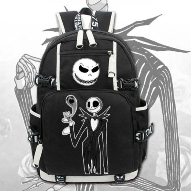 new the nightmare before christmas backpack knapsack packsack travel laptop shoulder bag student school bags bookbag - Nightmare Before Christmas Backpack