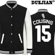 DUZJIAN Spring new Kings DeMarcus Cousins casual jacket cheap men winter jackets male coat boys jacket hip hop mens tweed jacket
