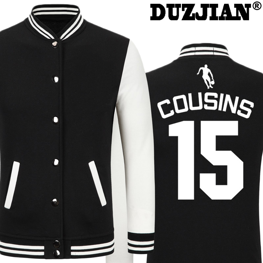 DUZJIAN Spring new Kings DeMarcus Cousins casual jacket cheap men winter jackets male coat boys jacket hip hop mens tweed jacket