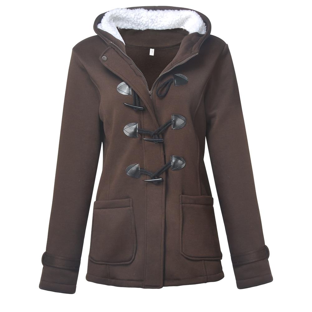 New Design Women Fashion Warm Coat Jacket Outwear Long   Parka   Overcoat Tops Coffee Black Gray in Autumn Winter