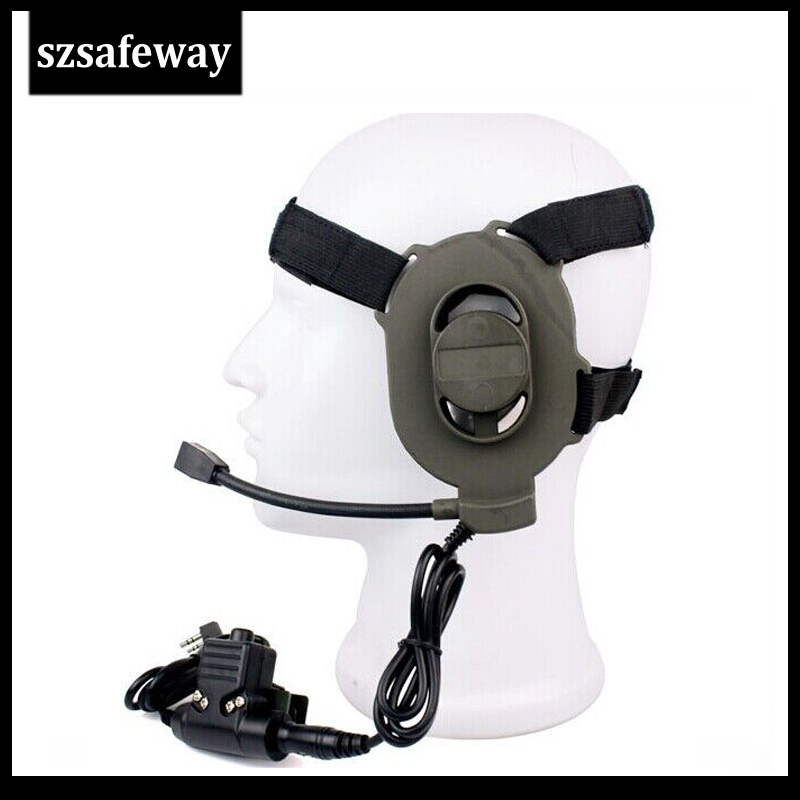 Z Tactical Bowman Elite II Headset With U94 Press-to-Talk PTT Tactical Earphone For Motorola CP200 GP300 CP040  Free Shipping