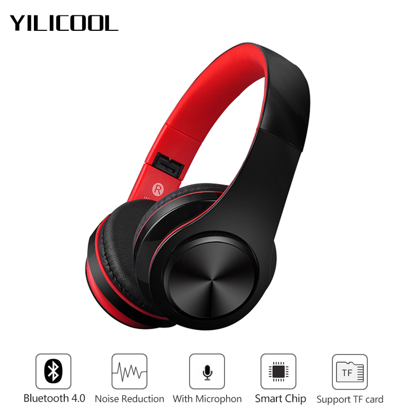 Wireless bluetooth 4.0 earphone stereo headset Audio Mp3 Bluetooth headphone support TF card with microphones for xiaomi iphone7 bluetooth wireless stereo headset audio connection card player fm radio headphone earphone with mic tf card mp3 supported