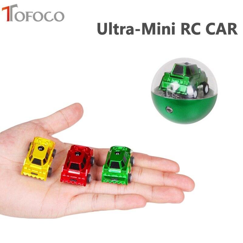 TOFOCO Portable Mini Circular Infrared Sensor Car 2 Channels Rc Car Radio Remote Control Micro Racing Cars Funny Car Model Toys