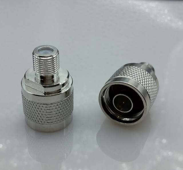 1pcs N-Type N Male Plug to F Female Jack RF Coaxial Adapter Connector Free shipping
