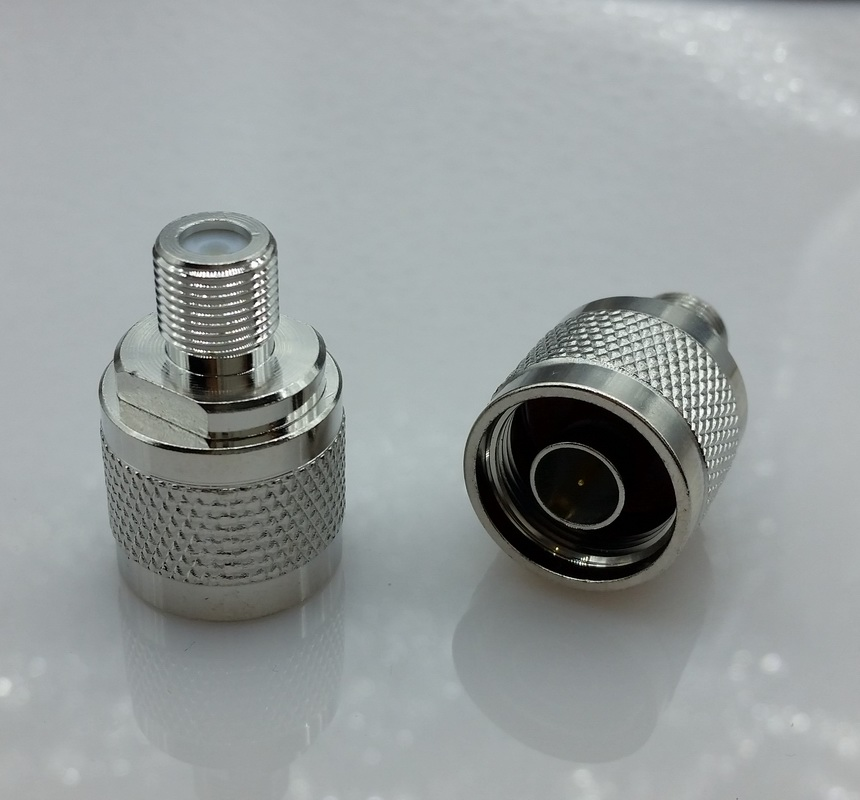 N-Type N Male Plug to F Female Jack RF Coaxial Adapter Connector Free shipping ivue iv 8513 pz