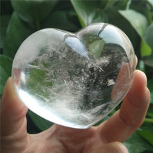 Pierres de Cristal en forme de cœur, Cristal clair Wicca, Pierre Naturelle Et Cristaux de guérison, accessoires de décoration pour la maison