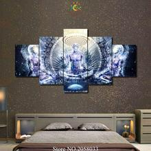3-4-5 Pieces Abstract Buddha Religion Pictures Painting Home Decoration Wall Art HD Canvas Modern