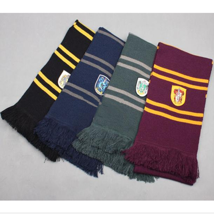 Scarves Gryffindor Slytherin Hufflepuff Ravenclaw Scarf Cosplay Costume Magic School Scarf for Harri Potter Cosplay
