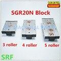 Квадратный тип роликовый линейный направляющий рельсовый блок SGB20N-UU подходит для SGR20N rail