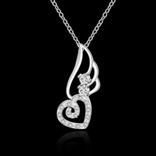 High Quality retail cheap Woman Silver Necklace Jewelry Gem Zircon N622