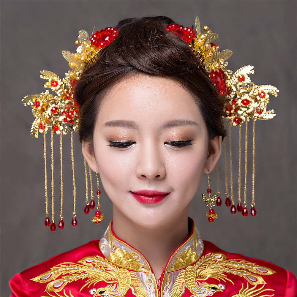 Wedding Hairstyles Chinese: Aliexpress.com : Buy New Bridal Crown Vintage Chinese