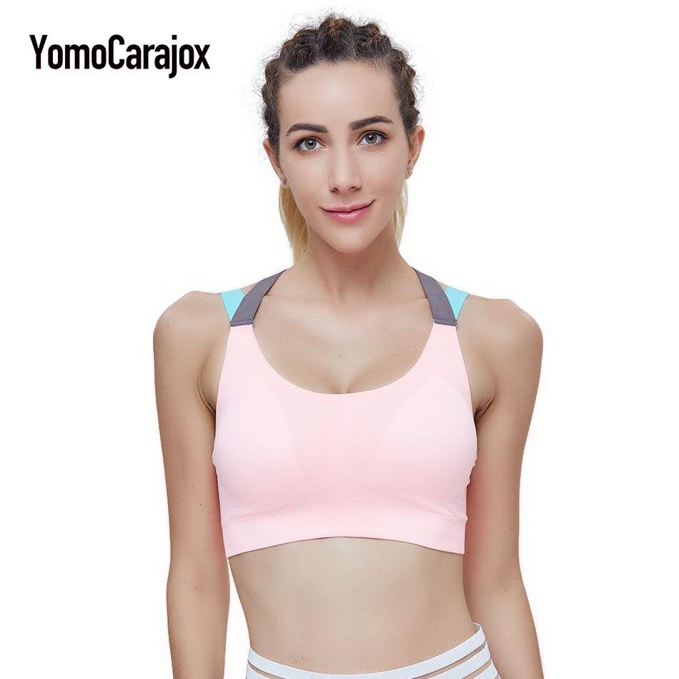 Sexy Yuga Bra Woman's Push Up Padded Compression Sportswear Sportswear Spaghetti Strap Fast Dry Elastic Bra