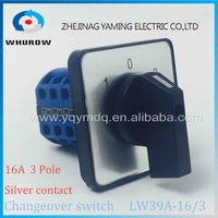 Rotary Switch 3 Postion LW39A 16 3 Manually Transfer Changeover Switch 16A 3 Poles Blue High