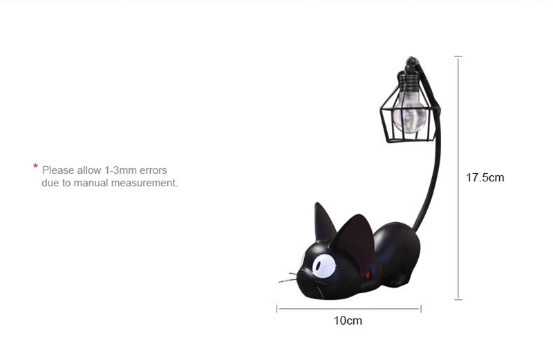 LED Night Light Creative Resin Cat Animal Night Light Ornaments Home Decoration Gift Small Cat Night Lamp (2)