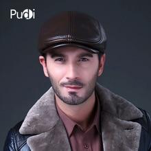 HL042 mens genuine leather baseball caps hats brand new cow skin beret golf hat cap