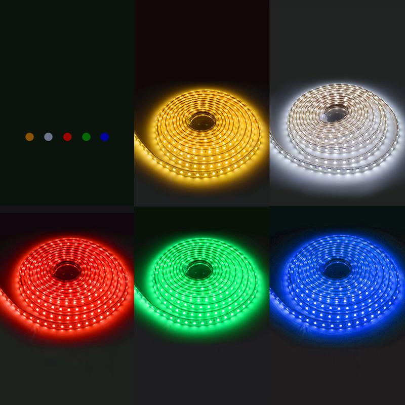 Goodland LED Strip Light AC 220V SMD 5050 Flexibel LED-tape 60LEDs / - LED-belysning - Foto 4