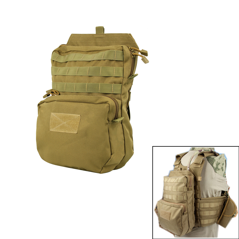 Devoted Tactical 3l Water Pack Bag Outdoor Military Vest Hydration Molle Backpack Cycling Hiking Bag Sturdy Construction