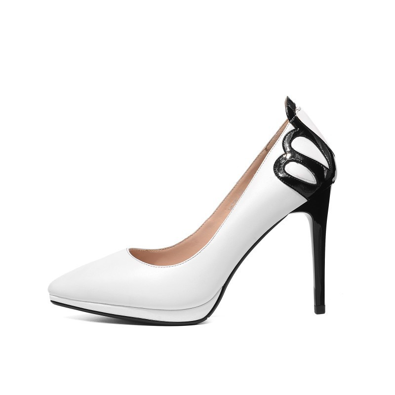2019 spring and autumn time super high heel shallow mouth stiletto pointed womens shoes white 03242019 spring and autumn time super high heel shallow mouth stiletto pointed womens shoes white 0324