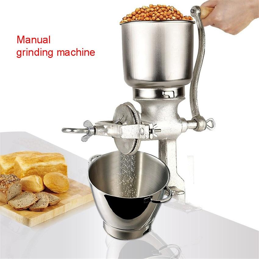 Home Manual Cast Iron Grinding Herbs Rice Peanuts, Grain Grinding Dry Mill, Milling Machine Maximum Capacity 1kg Food Mixers