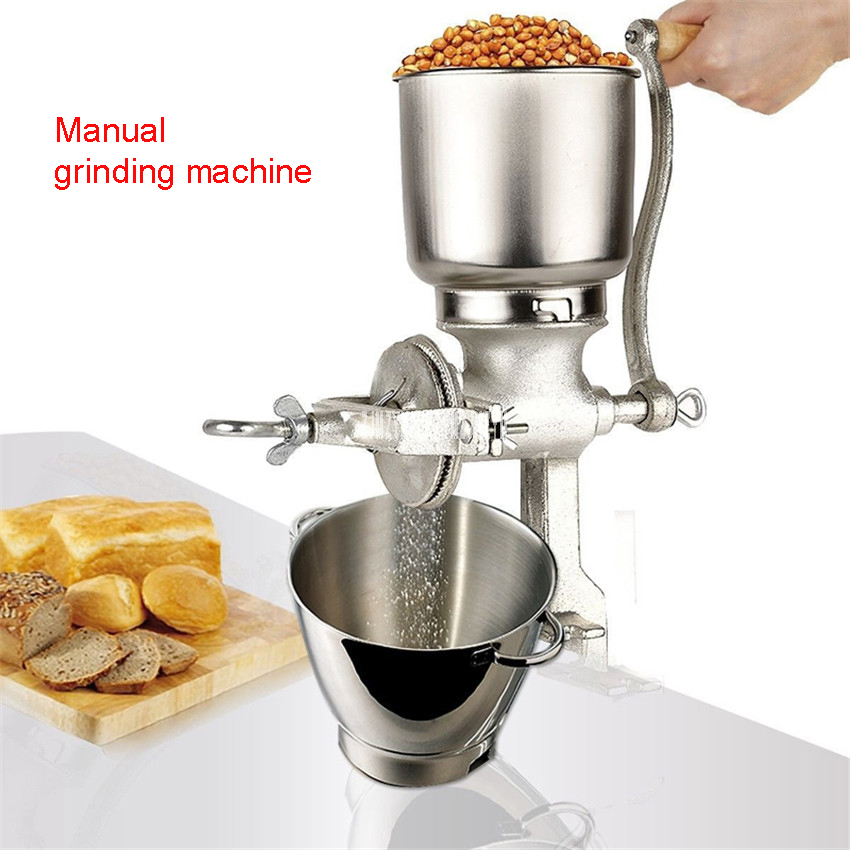 Home Manual Cast Iron Grinding Herbs Rice Peanuts, Grain Grinding Dry Mill, Milling Machine Maximum Capacity 1kg Food Mixers