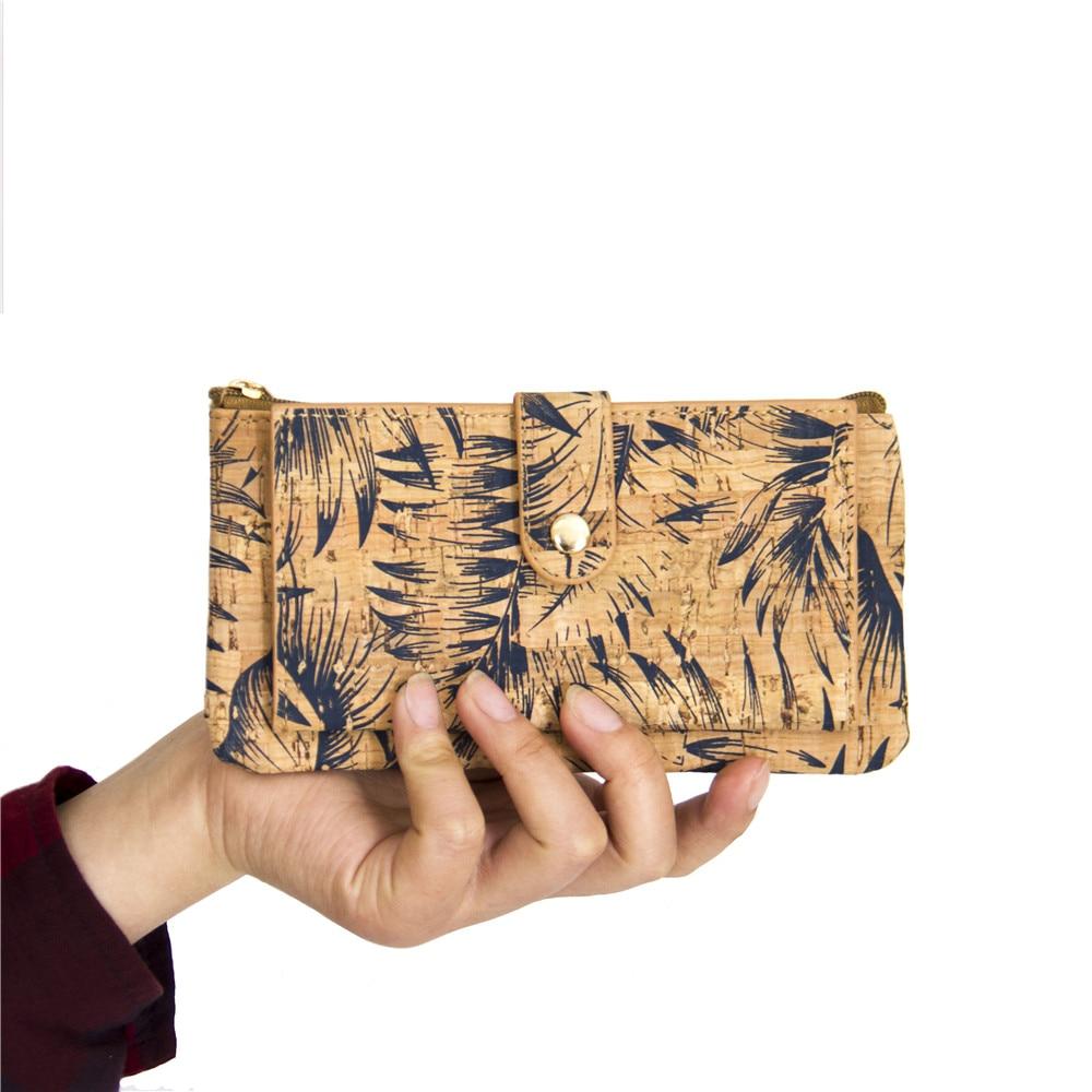 Naturkork plånbok med fjädertryck kvinna vegan plånbok - Plånböcker - Foto 4