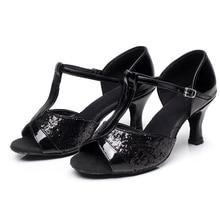 Girl's Women's Latin Dance Shoes Satin /Leatherette Ballroom /Tango/ Salsa Sandals 5cm /7cm Heel More Style (more color)