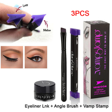 3Pcs/1Set Beauty Makeup Stamps Eyeliner Tool New Wing Style Kitten