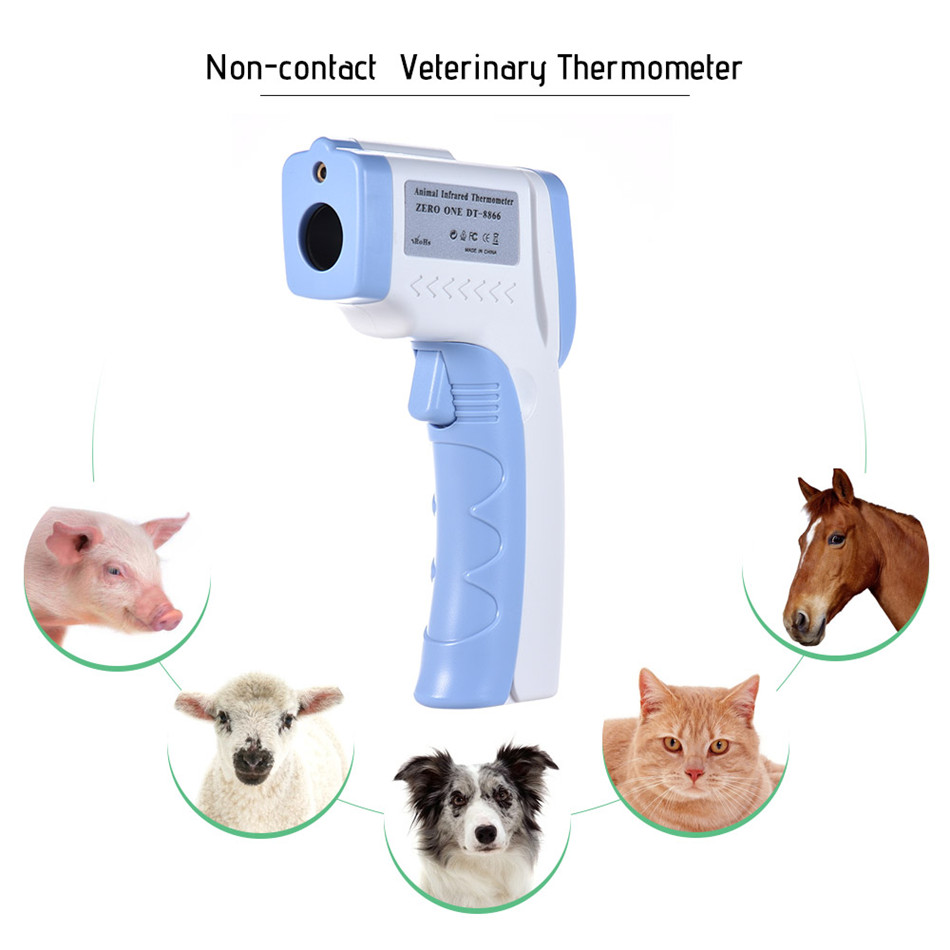 DT-8866 Meterk Digital Pet IR Thermometer Non-contact Infrared Veterinary For Dogs Cats Animals C/F Switchable