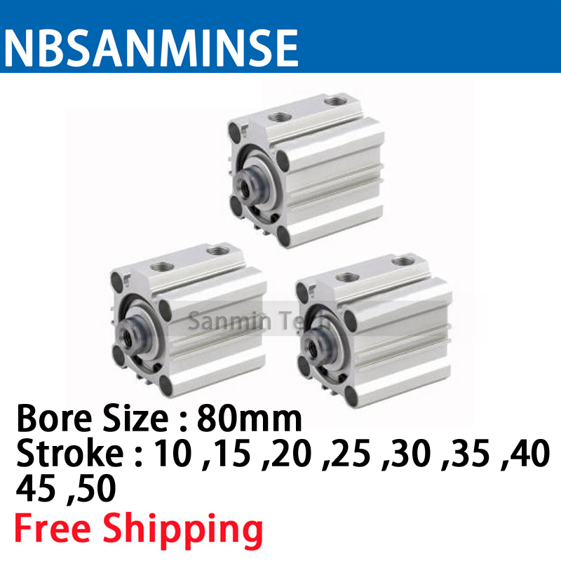 NBSANMINSE CQ2B 80mm Bore Compact Cylinder SMC Type Double Acting Pneumatic ISO compressed Air Cylinder  Automatic partsNBSANMINSE CQ2B 80mm Bore Compact Cylinder SMC Type Double Acting Pneumatic ISO compressed Air Cylinder  Automatic parts