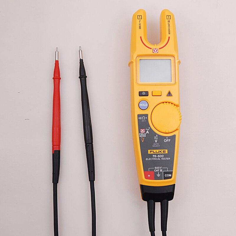Fluke T6-600 Morsetto Continuità Corrente Elettrica Tester Senza contatto di Tensione Clamp Meter