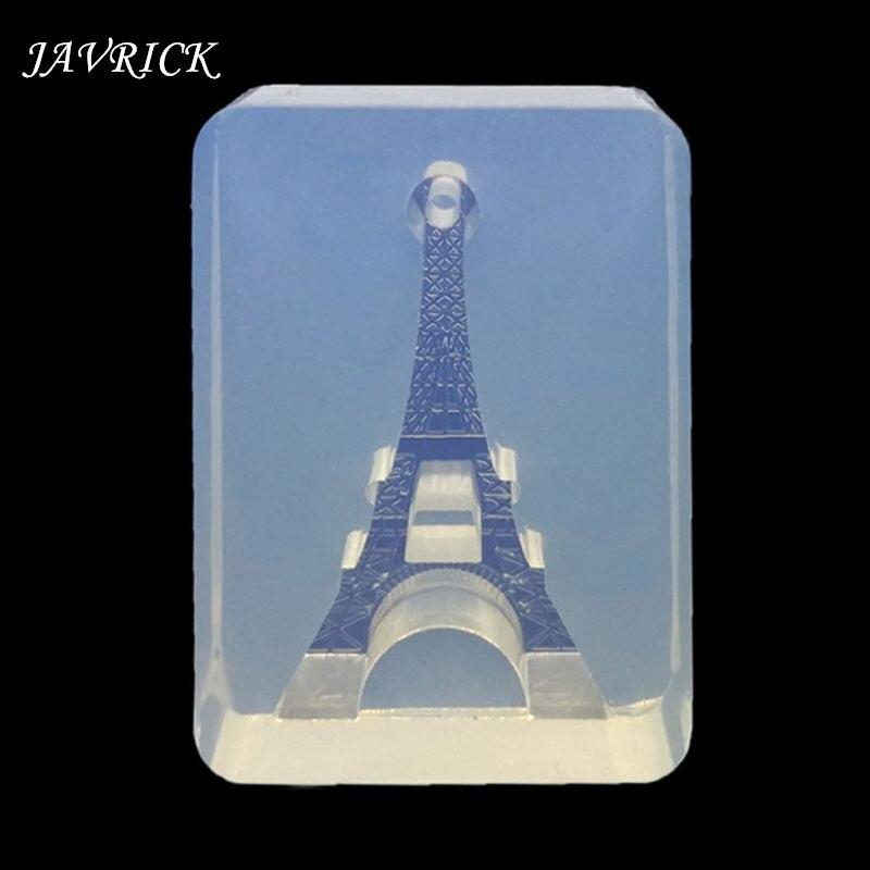 Eiffel Tower Key Bottle Shape Pendant Silicone Mold Resin Jewelry Making Tools