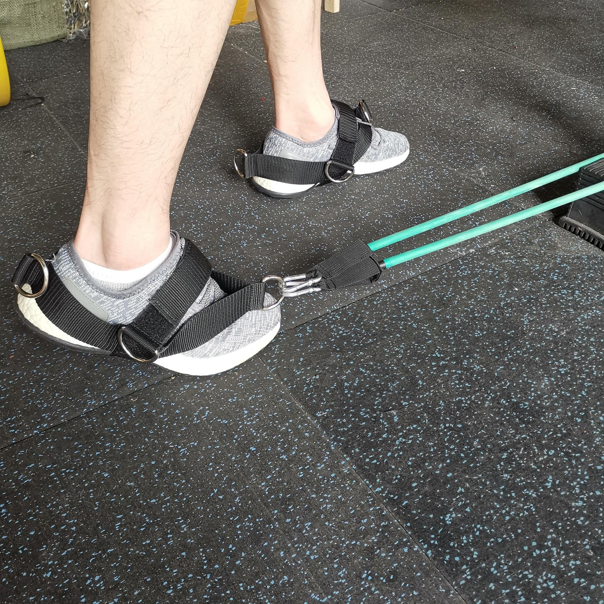 ORANGE  5-D Ring Foot Strap Cable Gym Machine Attch Glute,Donkey Kickbacks GLUTE