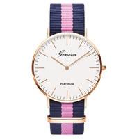 Classic brand relogio feminino Casual Quartz Watch Men Women Nylon strap Dress watches Unisex Geneva Watch Reloj mujer Montre Women Quartz Watches
