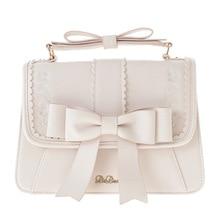 designer Leather handbag women bow tote Bag ladies hand