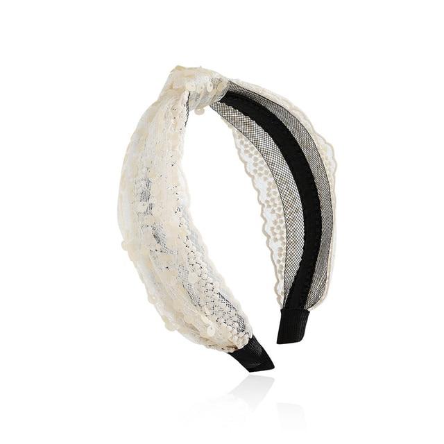 Купить женская повязка на голову с блестками chimera широкая кружевная
