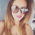 Afofoo moda oval gafas de sol de las mujeres diseñador de la marca de lujo mujeres hombres gafas de sol de espejo de la vendimia retro uv400 shades