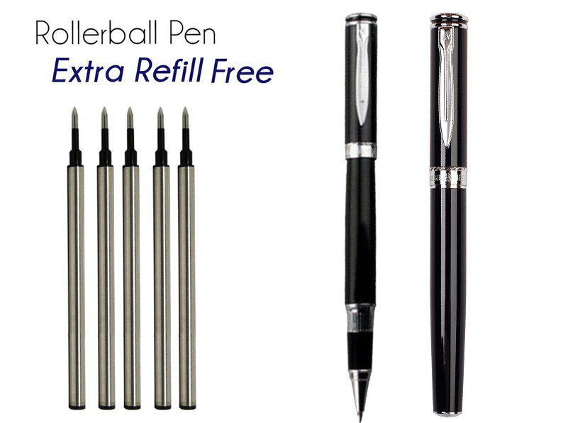 Gel RollerBall pen  black 0.5 Tip HERO 7035 office and school  stationery   Free  Shipping fountain pen fine nib chrome black hero 573 stationery office and school gift free shipping