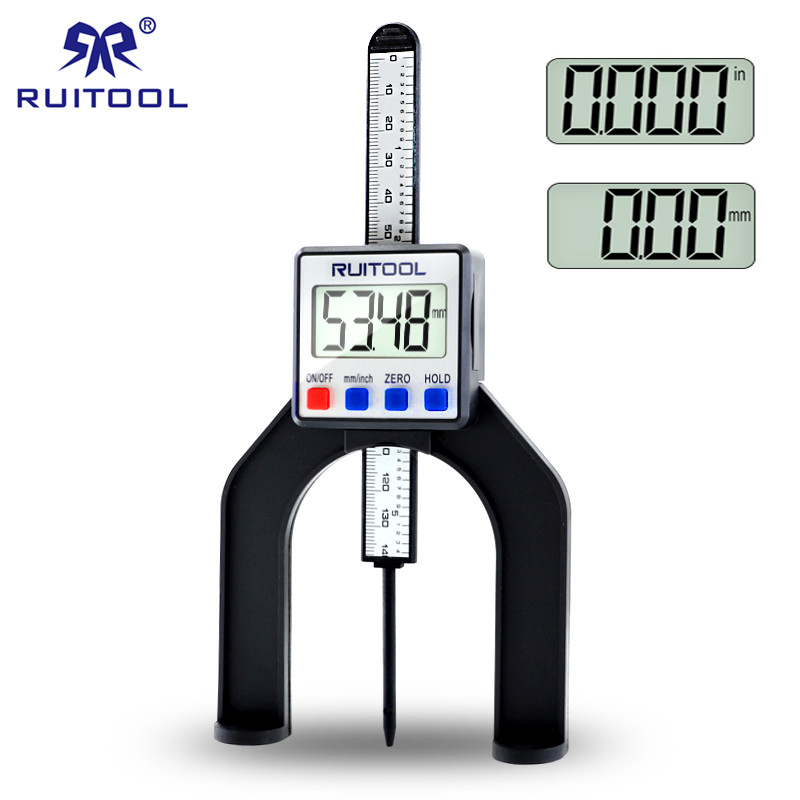 0 80mm Digital Height Gauge Magnetic Feet Electronic Caliper Depth Gage For Router Tables Woodworking Measuring