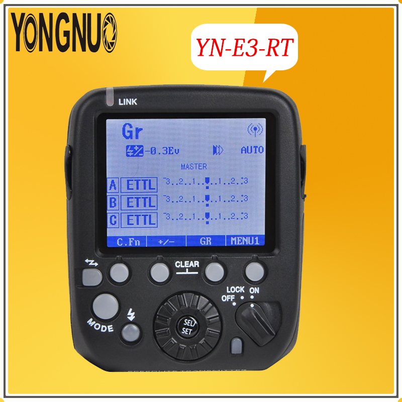 YONGNUO YN-E3-RT 2.4G TTL Radio Trigger HSS 1/8000s Master Flash Speedlite Transmitter as ST-E3-RT for Canon 600EX-RT,YN600EX-RT yongnuo 3x yn 600ex rt ii 2 4g wireless hss 1 8000s master flash speedlite yn e3 rt flash trigger for canon eos camera 5d 6d